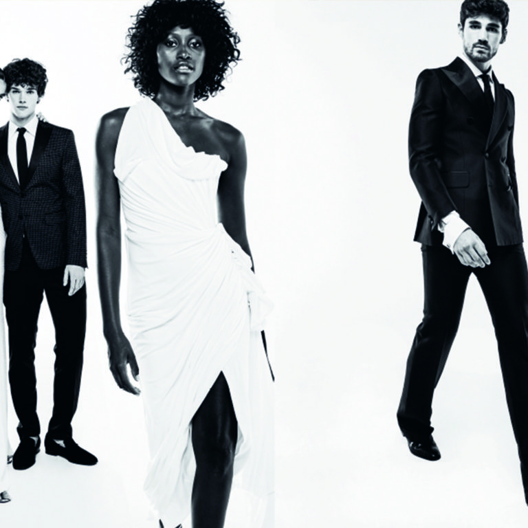 lucia se casa calvin klein yolancris blanco y negro black and white fashion editorial 90s
