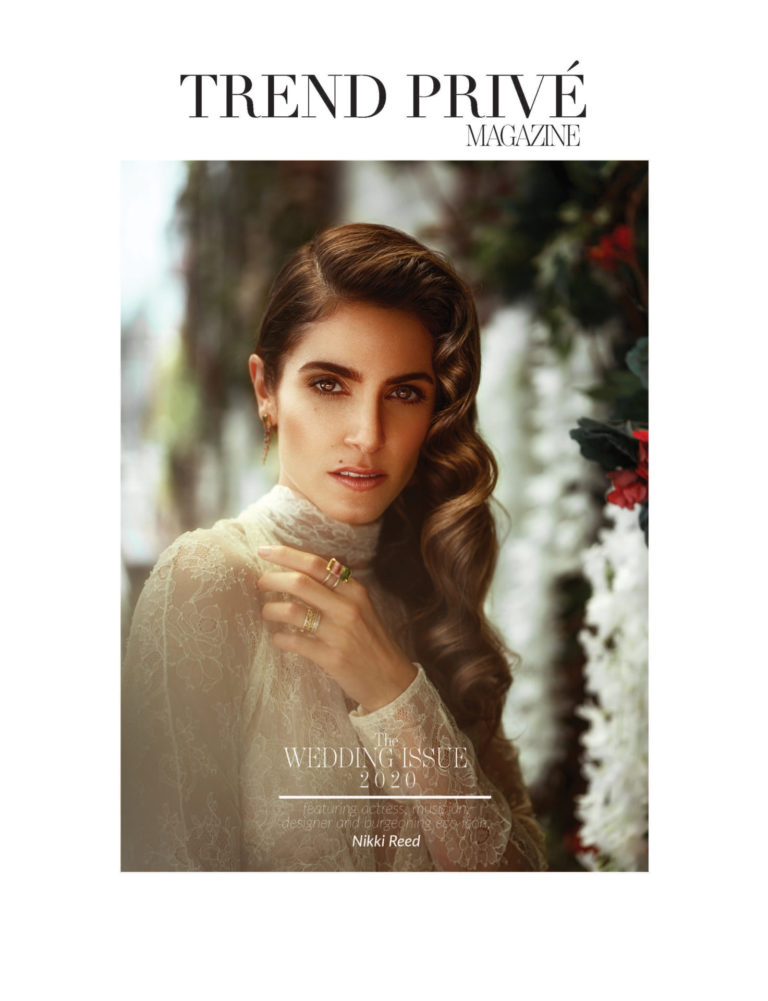 2020 Wedding Issue Vol2 Yolancris bride dress nikki reed trend privé magazine bridal editorial photoshot