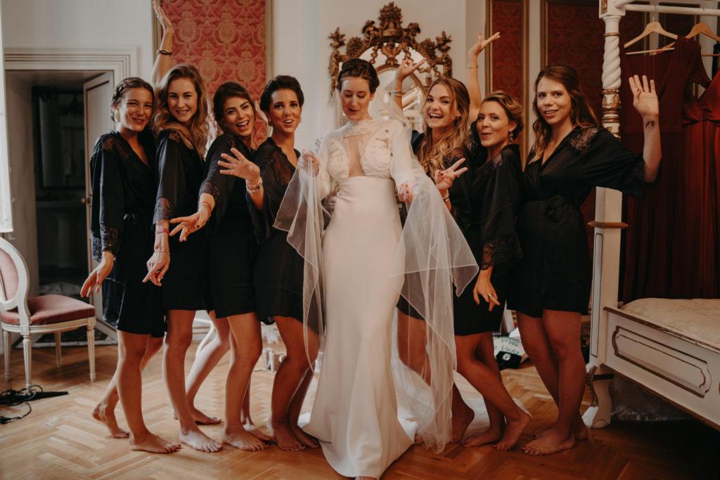 yolancris LaureneAndTheWolf vestido novia wedding dress crepe long sleeve white lace mermaid