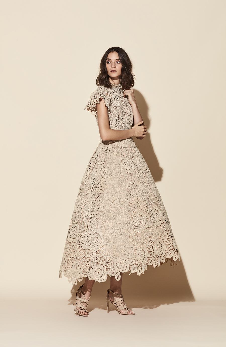 20-42 yolancris evening party cocktail dress modest beige embroidery vestido fiesta gala princesa princess