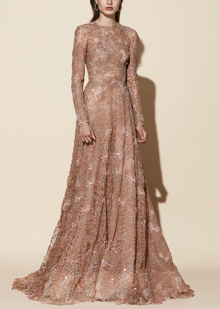evening nude dress Rubi