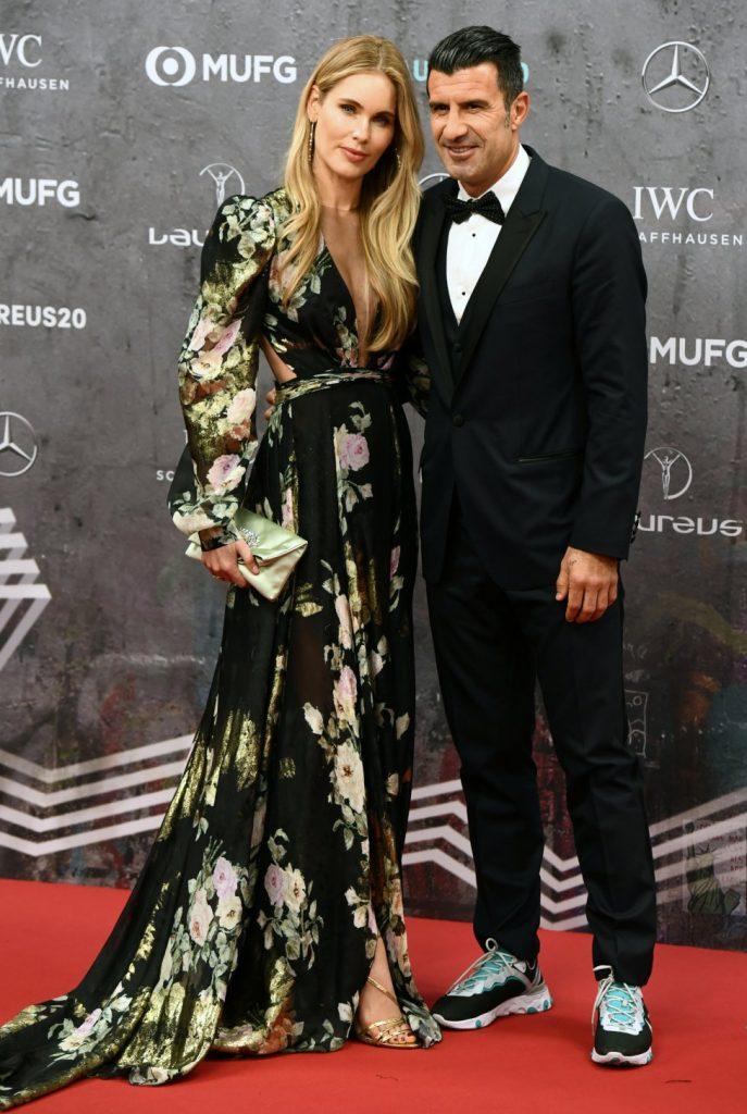 helene svedin figo laureus 2020 berlin yolancris evening party wear dress flower print cut out