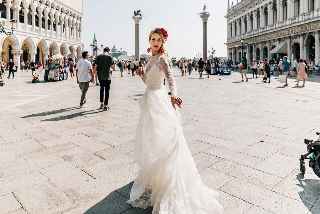 vestido novia romantico