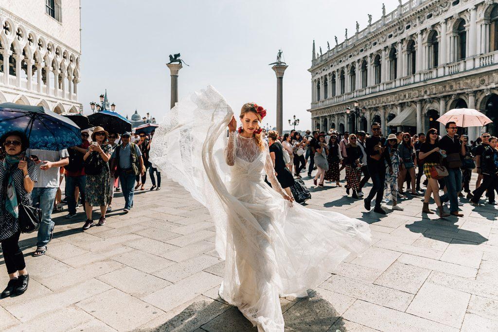 vestido novia boho tul plumetti
