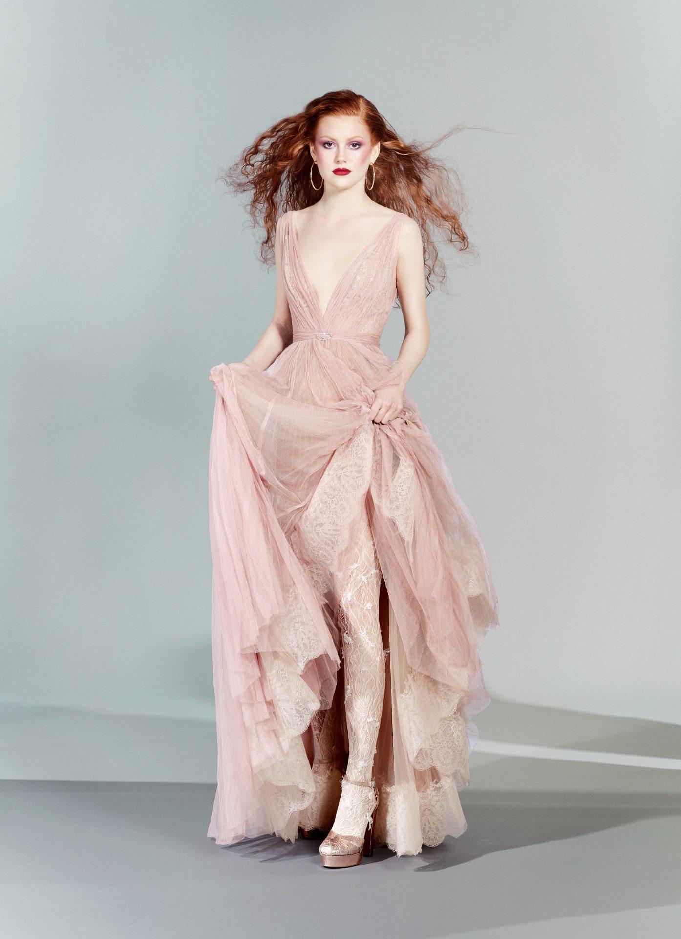 vestidos de fiesta largos rosa palo
