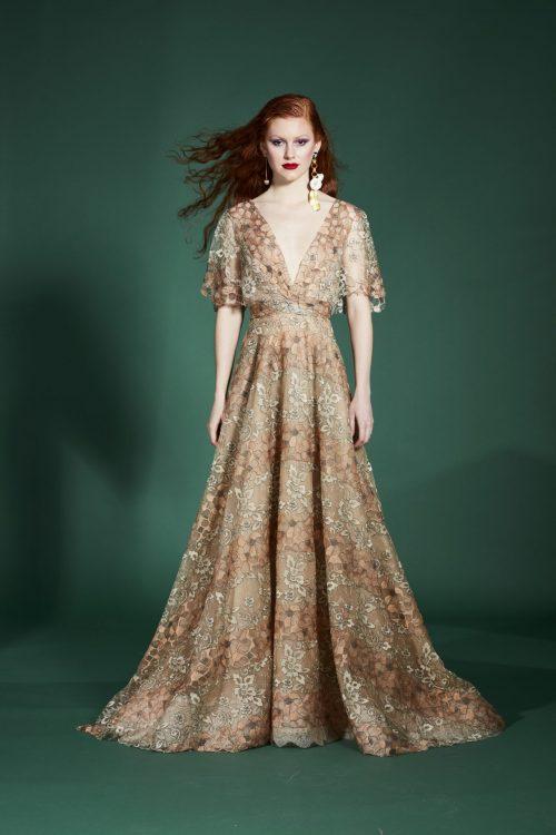 vestidos de fiesta bordados con flores