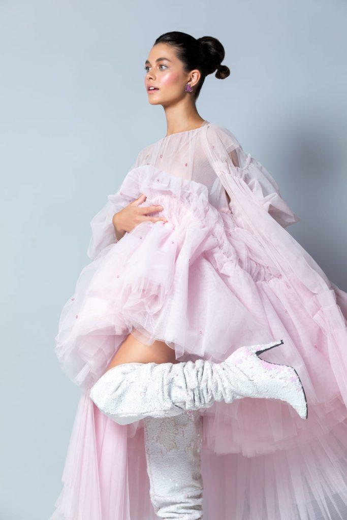 pink dress summer