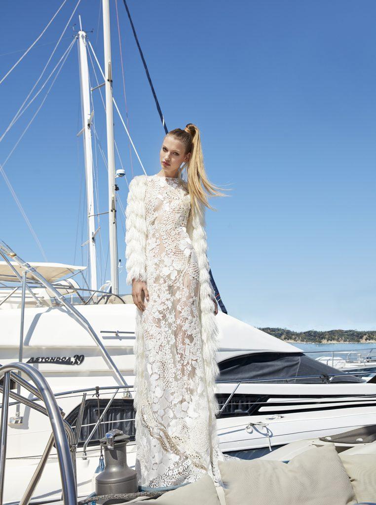 vestido de novia manga larga encaje