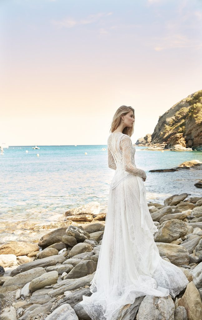 vestido de novia manga larga sencillo