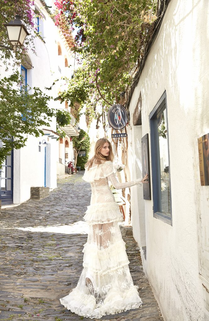 boho peasant wedding dress