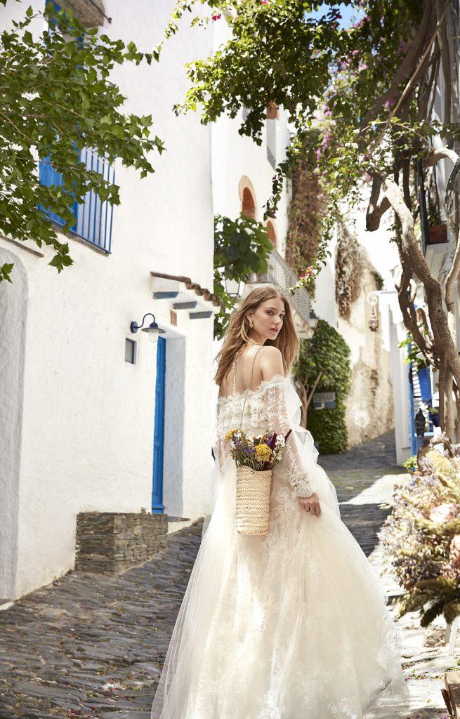 long sleeve wedding dress boho peasant