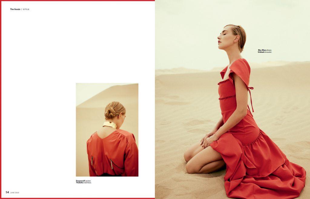 editorial vestido de fiesta rojo robb report singapore
