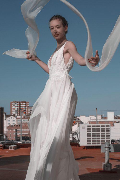 vestido de novia pedreria
