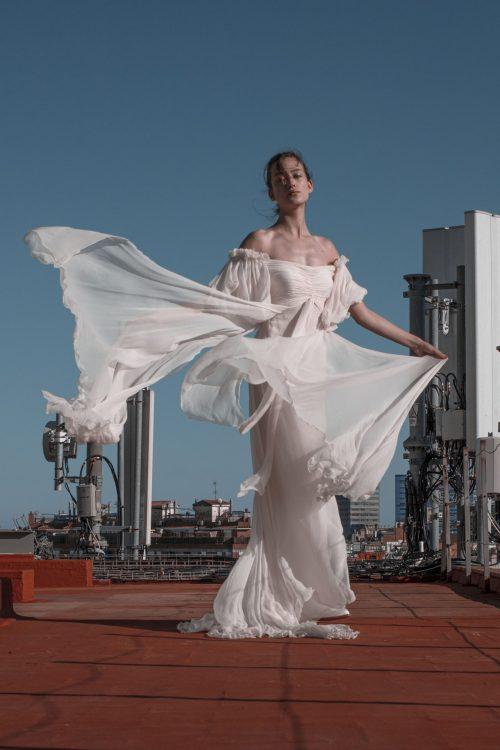vestidos de novia de gasa de seda