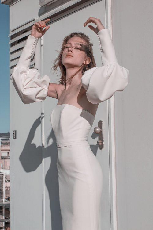 vestidos de novia sirena con cola larga