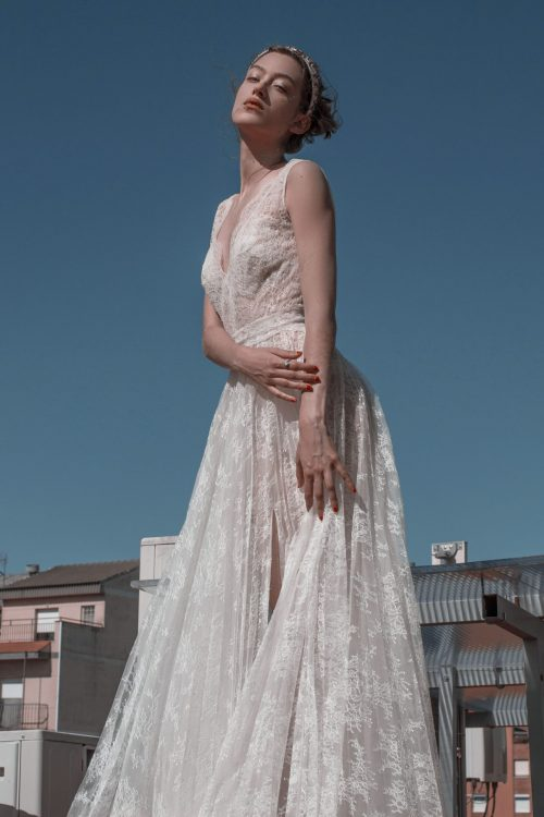 vestido de novia de encaje romántico