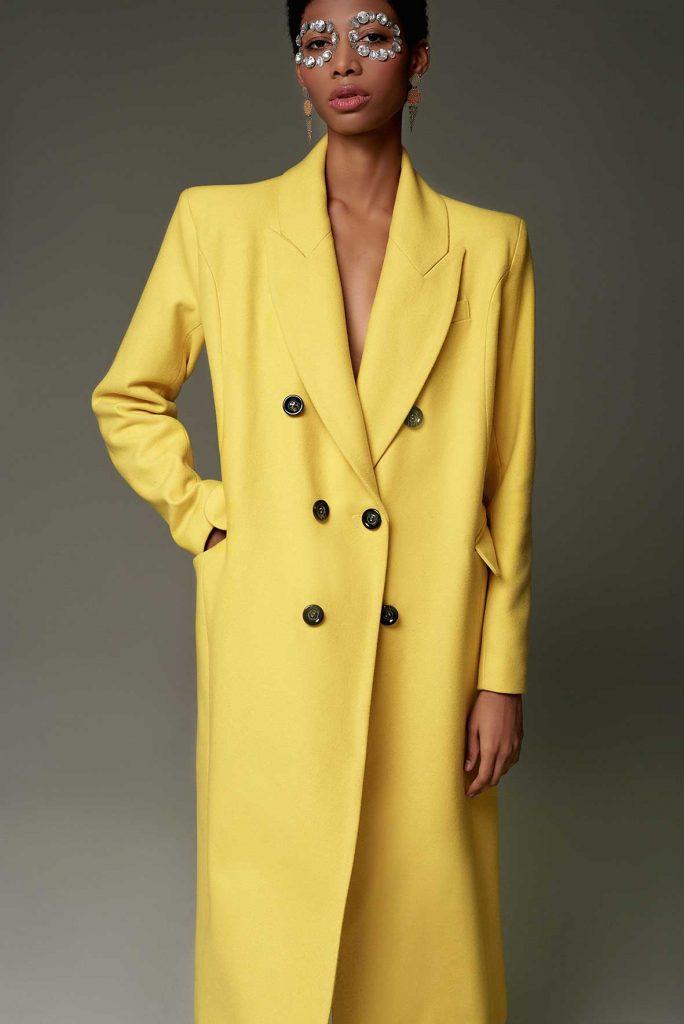 blazer amarillo oversize
