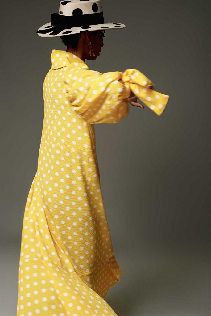 vestido amarillo lunares