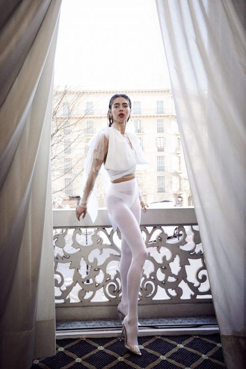 blusa manga larga blanco dorado