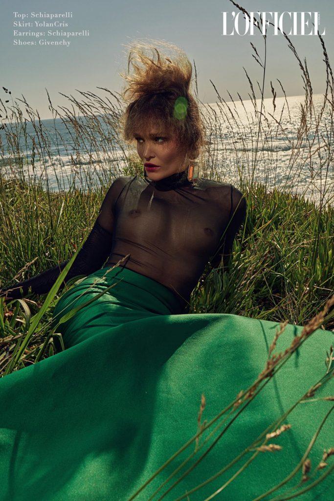 l'officiel green mermaid dress