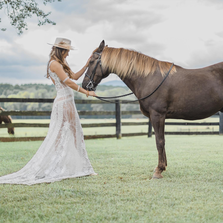 yolancris real bride boho