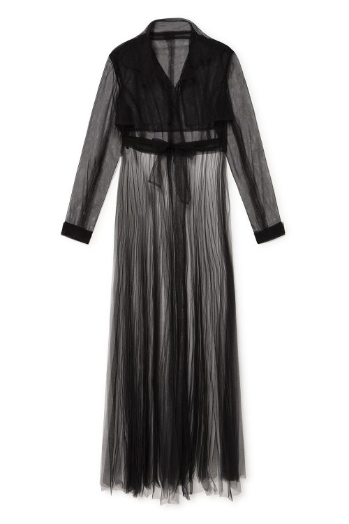 black trench coat womens tulle