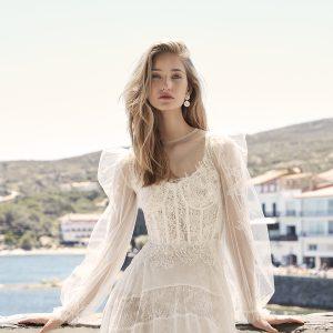 boho wedding dress lace tulle
